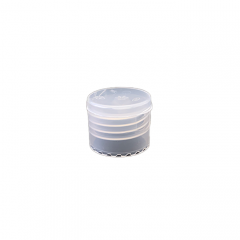 24-410 P/P Natural Smooth Flip Top Cap, No Liner