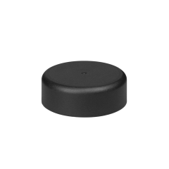 38mm Smooth Matte Black Child Resistant Closure with Foam Liner