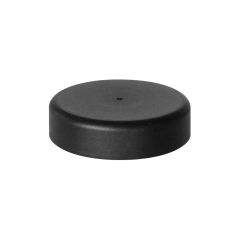 53mm Smooth Matte Black Child Resistant Closure with Foam Liner