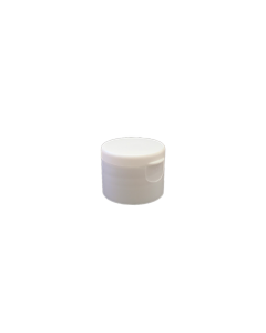 24-410 P/P White Smooth Flip Top Cap S1, No Liner
