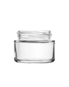 2oz CLEAR Glass Extra-Wide, Straight Sided, Wide Mouth Jar