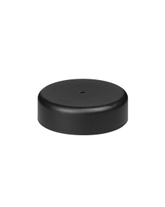 45mm Smooth Matte Black Child Resistant Closure with Foam Liner