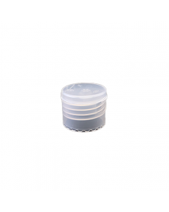 24-410 P/P Natural Smooth Flip Top Cap, No Liner