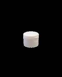 24-410 P/P White Smooth Flip Top Cap S1, No Liner