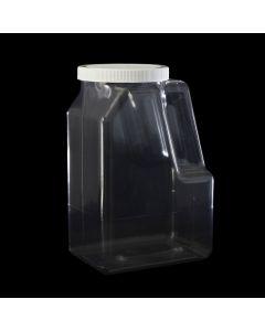Pinch Grip PET Clear Plastic Bottle, 129oz