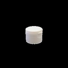 24-410 P/P White Smooth Flip Top Cap S2, No Liner